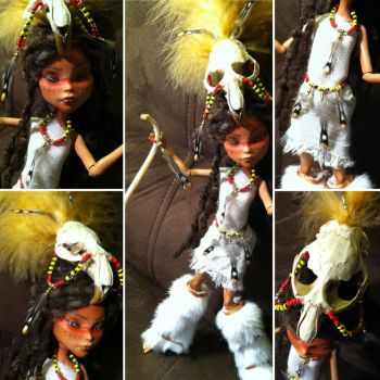 Tribal Shaman Cleo Denile: Monster High Custom by TerribleToadQueen