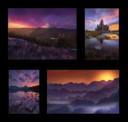 Landscape Thumbnail Studies 5 Day #131 by AngelGanev