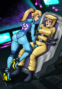 Zelda's Space Adventure (Commission) by Re-Maker
