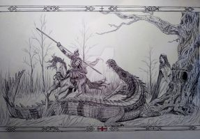 St. George and the Dragon by Snow-Monster