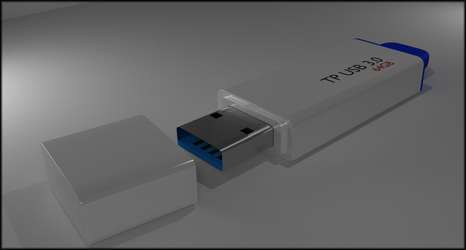 USB Stick Blender Cycles by TallPaul3D