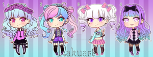 CLOSED - Pastel Goth cuties (adoptable batch 4) by NakuArt