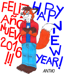 Happy New Year 2016 by AnthoFur