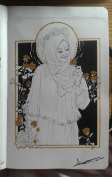 Hijabi and roses by ClashD