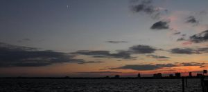crescent moon at dusk st.johns by CO99A5