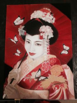 The butterfly geisha by Lightoma