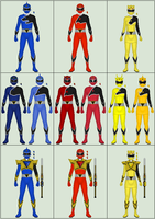 Shikon Sentai Kyokuger, P2: Core Tune Changes by Omega-King-DX