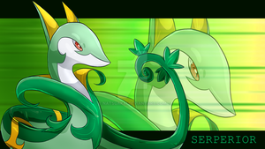 Serperior wallpaper by Natsuakai