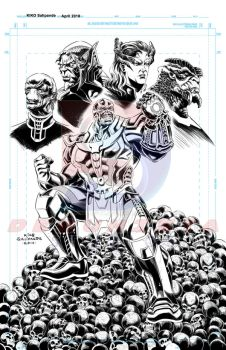 Thanos and the Black Order_Digital Inks by debuhista