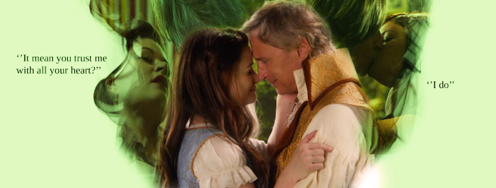 Belle and Rumple from Once upon a time by Thundergraphic97
