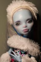 Monster High Repaint Commission - Abbey by Armeleia