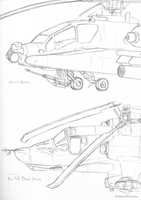 Copter Sketches by GoldenHorizons