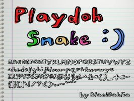 Playdoh Snake by blackdahlia
