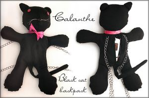Black cat backpack: Calanthe by mirime-duinram