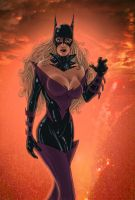 Sultry Batgirl by The-Mirrorball-Man