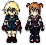 Azalea and Nomi sprites by WaffleFoxAlpha