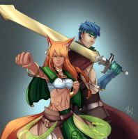 Leah x Ike (request) by Ava-Victoria