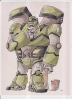 TFA Bulkhead. by dragongirl900