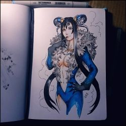 Sketchbook - Rinoa/Ultimecia by Candra