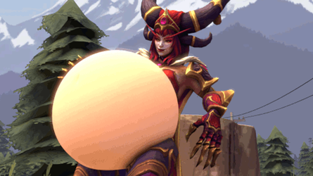 Satisfied Alexstrasza (Gif/Commission) by MD002