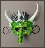 Terralux Leather Dragon Mask by windfalcon