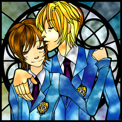 AE Badge 5-Ouran Host Club by Checkered-Fedora