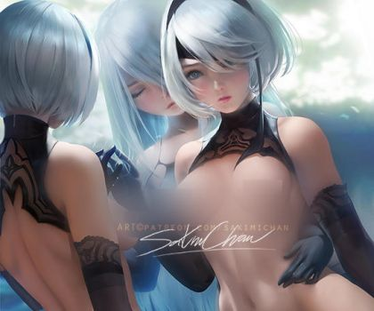 2B .nsfw preview. by sakimichan