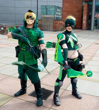 The Green Arrow and his protege by wolf-in-a-dress