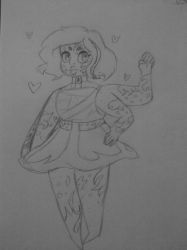 Fandomginger fusion (uncolored) by Shimmering-Moon