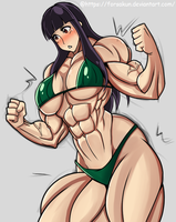 Muscle Girl - Isa by Forsakun