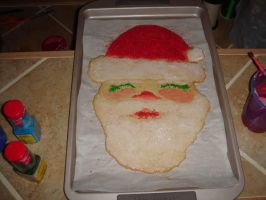 Giant Santa Claus Cookie by mobydisk