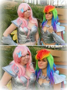 Flyers Stick Together- Fluttershy and Rainbow Dash by flyawayskyx3