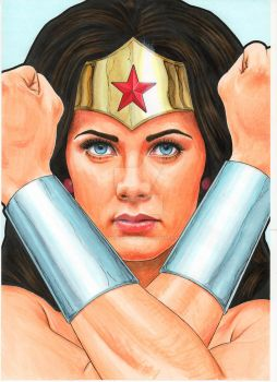 Lynda Carter-esque Modern Wonder Woman by Promethean-Arts