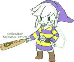 Sketch - Earthbound Link by kevinxnelms