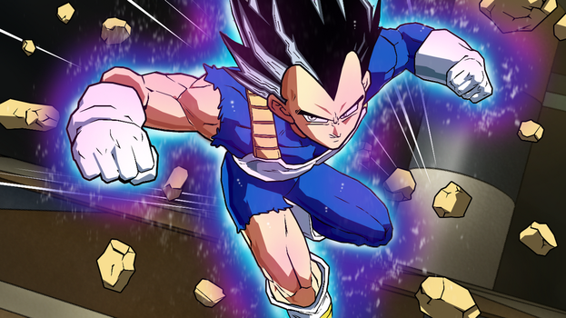 Vegeta Ultra Instinct (Remastered Aura) by GARSL