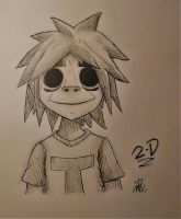 2-D Gorillaz by SpookyArtist0110