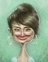 Penelope Cruz Caricature by jonesmac2006