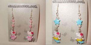 Hello Kitty Earrings by AndyGlamasaurus