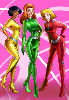 Totally spies print by spiderweber