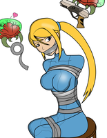Samus' Capture by AngelTurner - Colored by wandering-colorist