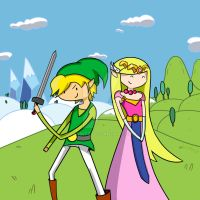Link and Zelda Adventure time by JanMtz