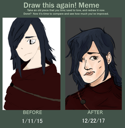 Draw this again! 3 year difference by JamaicanGingerBread