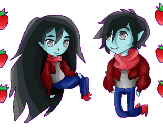 Marceline and Marshall Lee by Ametheliana