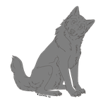 Free Wolf Lineart v.2 by Sigath