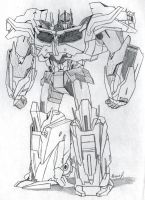 Optimus Prime Full Body Sketch by PDJ004