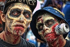 Zombie Walk by kabicxulub