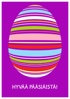 Postcard. Easter Egg (Finnish) by kinga-saiyans
