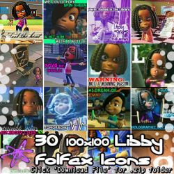 Jimmy Neutron - 30 Libby Folfax Icons (.zip pack) by Absurd--Reality