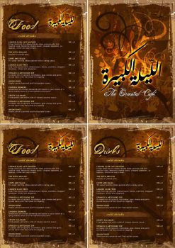 El Leila El Kbeera - Cafe Menu by t4m3r