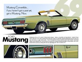 1969 Ford Mustang WALLPAPER by CRWPitman